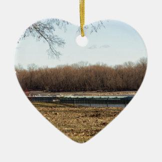 Fluss-Leben Keramik Herz-Ornament
