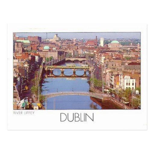 Fluss Liffey (St.K.) Irlands Dublin Postkarte