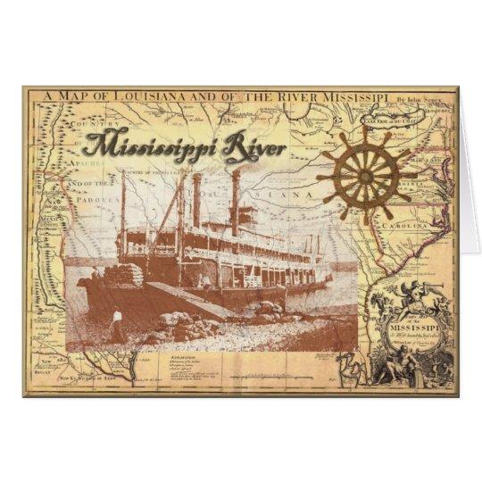 Fluss MississipiSteamboat Grußkarte