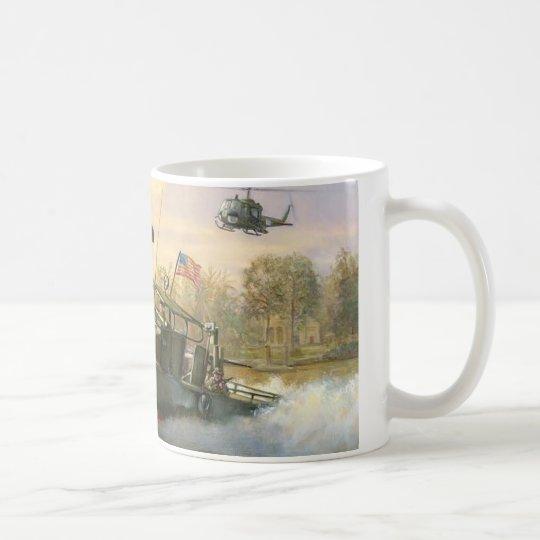 Fluss-Patrouillenboot Kaffeetasse