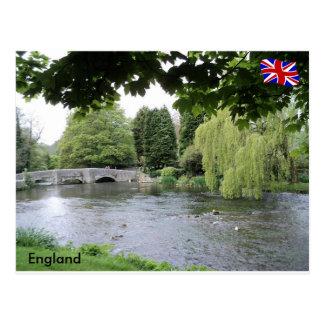 Fluss Rye, Höchstbezirk, Derbyshire, England Postkarte