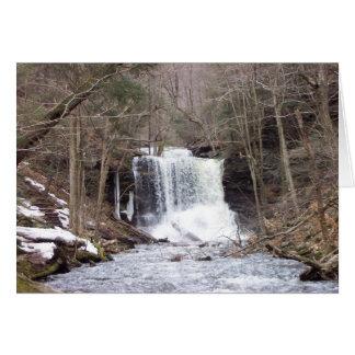 Flüssige Wasserfall-Weihnachtskarte Karte