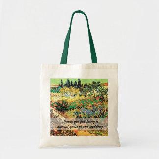flüssiger Garten mit Weg, Van Gogh Tragetasche