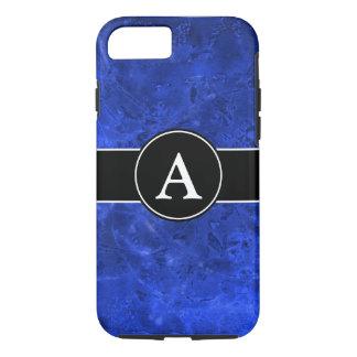 Flüssiges Blau mit Initiale iPhone 7 Hülle