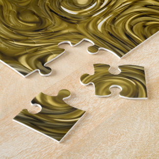 """Flüssiges """"Gold"""" Druck-Fotopuzzlespiel"""