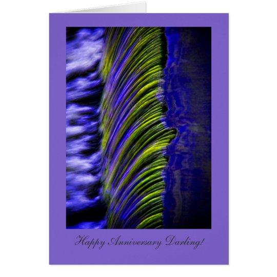 Flüssiges Wasser abstrakt, glücklicher Anniversay Karte