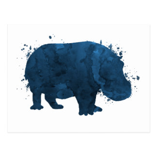 Flusspferd/Hippopotamus Postkarte