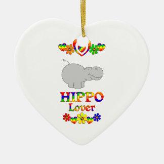 Flusspferd-Liebhaber Keramik Herz-Ornament