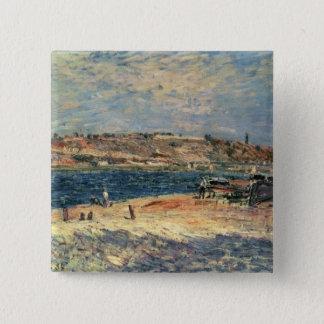 Flussufer Alfred Sisleys | am Heiligen-Mammes Quadratischer Button 5,1 Cm