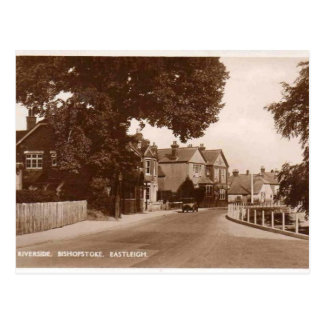 Flussufer - Bishopstoke - Eastleigh - Hampshire Postkarte