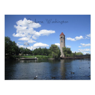 Flussufer-Park Postkarte