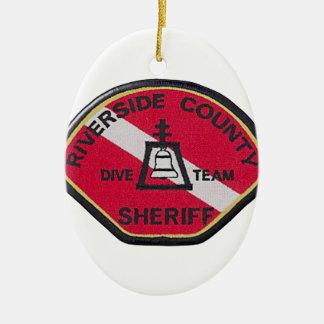 Flussufer-Sheriff-Tauchen-Team Keramik Ornament
