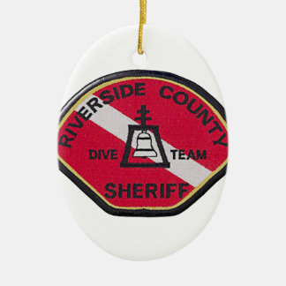 Flussufer-Sheriff-Tauchen-Team Ovales Keramik Ornament