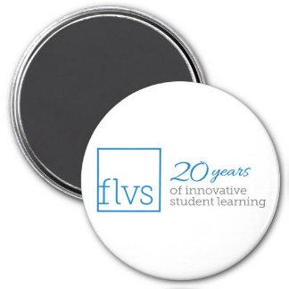 FLVS 20 Jahre Magnet- Runder Magnet 7,6 Cm
