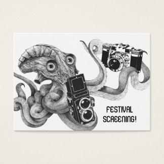 Flyer-Übertreibungs-Film-Kraken-Kamera-Film, der Jumbo-Visitenkarten