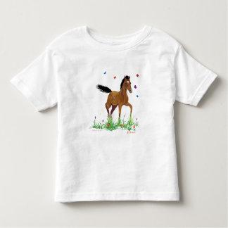 Fohlen-und Schmetterlings-Kleinkind-T - Shirt