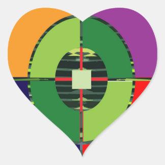 FOKUS grüne Ziel ERDEglobale Erwärmung NVN255 Herz-Aufkleber