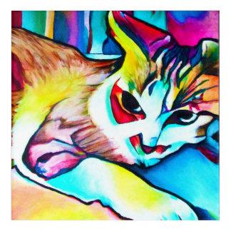 Fokus-Miezekatze-Malerei Acryldruck