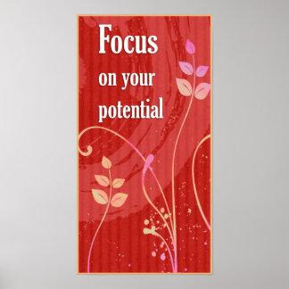 Fokus-Positive Haltungs-motivierend Plakat
