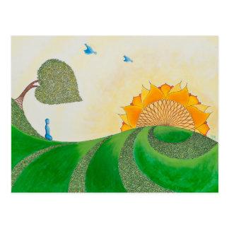 Folgen Sie dem Sun Postkarte