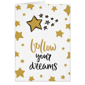 Folgen Sie Ihrem Traum-Goldstern! Karte