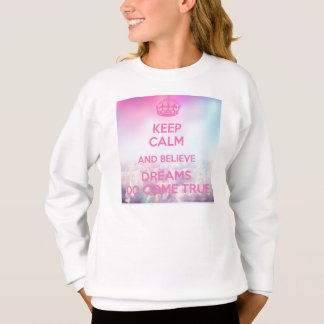 folgen Sie Ihren Träumen (Mädchenstrickjacke) Sweatshirt