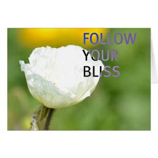 Folgen Sie Ihrer Glücks-Weiß-Tulpe Karte