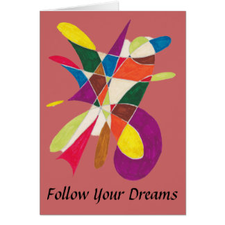 Folgen Sie Ihrer Traum-Abstrakten Bleistift-Skizze Karte