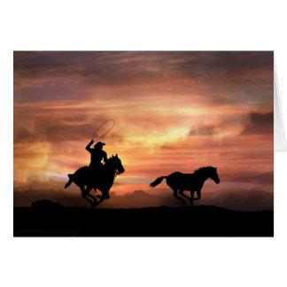 Folgen Sie Ihrer Traum-Ermutigungs-Cowboy-Karte Karte