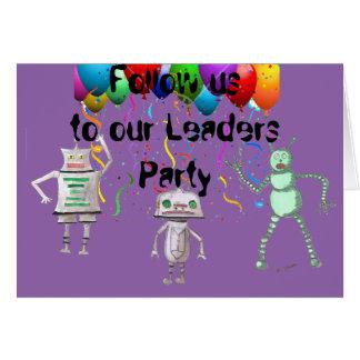 Folgen Sie uns, laden Party mit Umschlag ein Karte