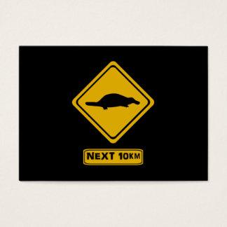 folgende 10 Kilometer platypusses Visitenkarte
