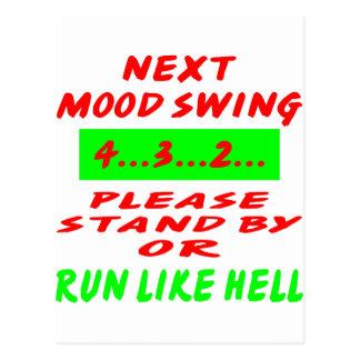 Folgender Stimmungswechsel stehen bereit oder Postkarte
