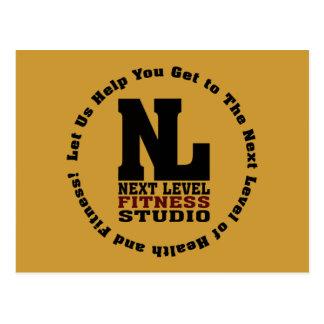 Folgendes waagerecht ausgerichtetes Fitness-Studio Postkarte