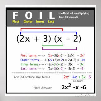 FOLIE Methoden-Mathe-Plakat Poster