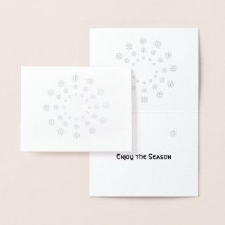 Folien-Karte - Schneeflocken in den konzentrischen Folienkarte