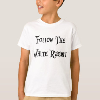 Follow the Whiter Rabbit Alice T-Shirt