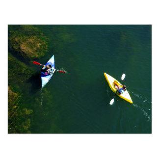 Folsom Ikone: Kayakers auf dem amerikanischen Postkarte
