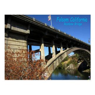 Folsom Ikone: Regenbogen-Brücke mit Kajak Postkarte