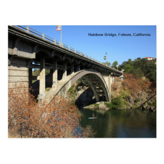 Folsom Ikone: Regenbogen-Brücke Postkarte