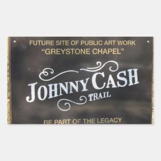 Folsom Ikone: Zeichen auf der Johnny Cash-Spur Rechteckiger Aufkleber