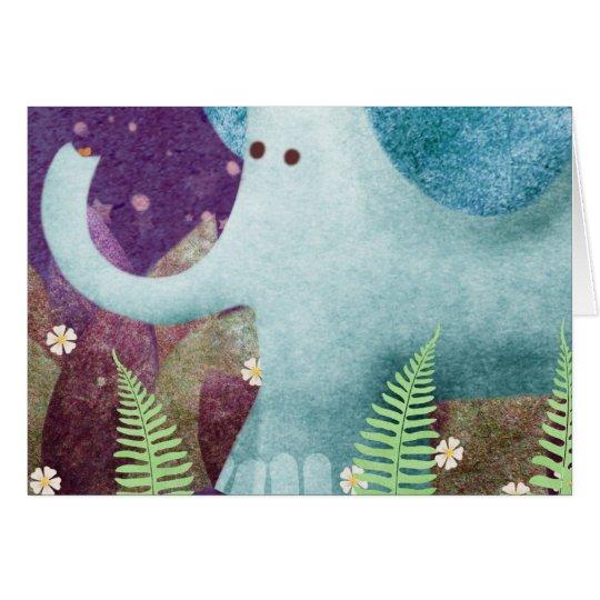 Fontaine der Elefant Mitteilungskarte