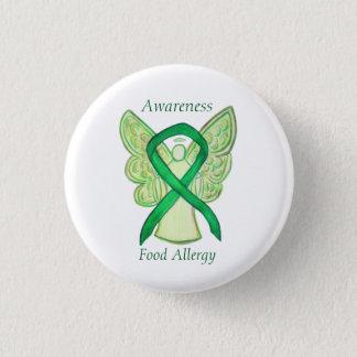 Food Allergy Awareness Angel Green Ribbon Art Pin Runder Button 2,5 Cm