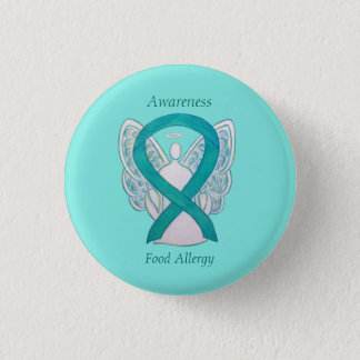 Food Allergy Awareness Angel Green Ribbon Art Pin Runder Button 3,2 Cm