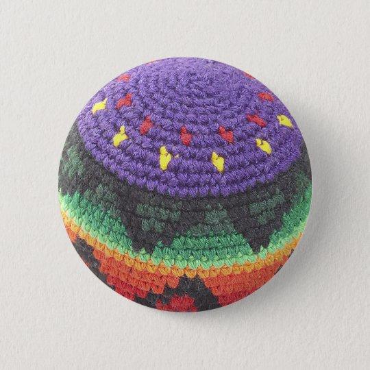footbag Fuß-Sack-Foto Runder Button 5,7 Cm