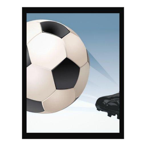 football-coup-de-pied prospectus avec motif