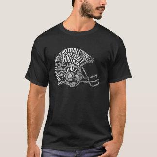 Football-Helm-Typografie T-Shirt