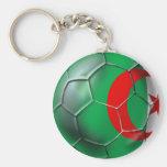 Footballeur algérien de ballon de football de drap porte-clefs