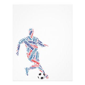 Footballeur avec la boule prospectus personnalisés