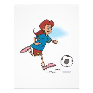 Footballeur féminin prospectus 21,6 cm x 24,94 cm