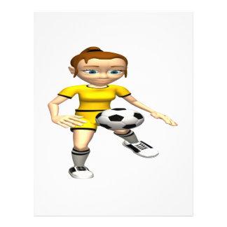 Footballeur féminin prospectus avec motif